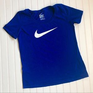 NIKE Bright Blue Swoosh Performance T-Shirt